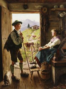Tyrolean Couple by Emil Karl Rau