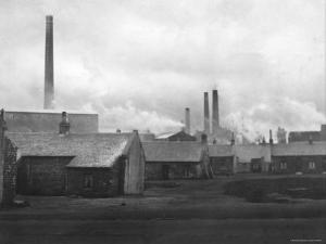 Smoke Billowing from Chimneys in Factory Town by Emil Otto Hopp?