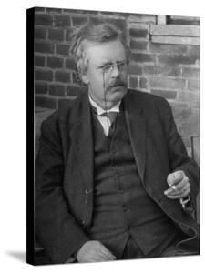 Author G. K. Chesterton, in Portrait by Emil Otto Hoppé