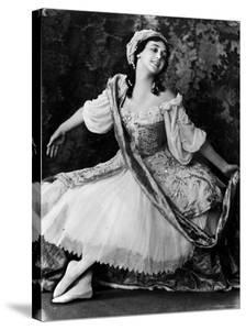 """Ballerina Thamara Karsavina Posing in Costume for the Ballet """"Pavilion D'Armide"""" by Emil Otto Hoppé"""