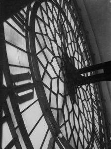 Close Up of Back of Lit Face of Big Ben by Emil Otto Hoppé