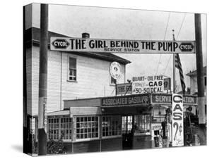 Girl Behind the Pump Gas Station Run Entirely by Female Owners by Emil Otto Hoppé