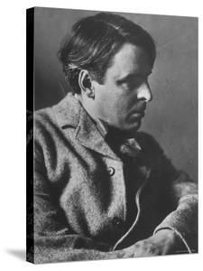 Irish Poet William Butler Yeats Posing for E. O. Hoppe by Emil Otto Hoppé