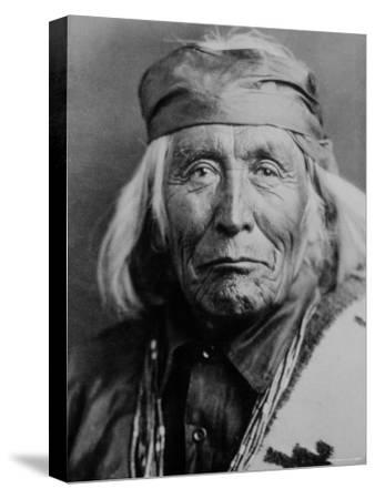 Portrait of Elderly Native American Navajo Man