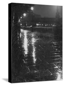 Rainy Wet Sidewalk at Night, London by Emil Otto Hoppé