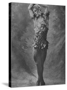 "Russian Ballet Dancer Vaslav Nijinsky Photographed in Title Role of ""Spectre de La Rose"" by Emil Otto Hoppé"