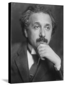 Thoughtful Portrait of Physicist Albert Einstein by Emil Otto Hoppé