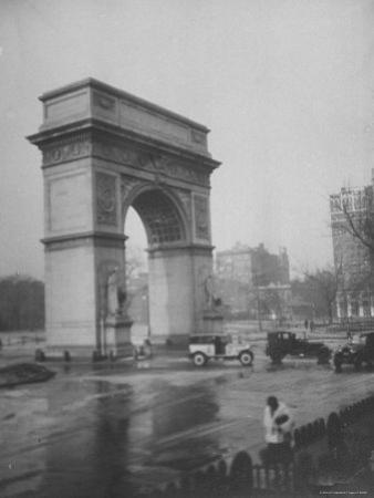 Washington Square Arch Designed by Stanford White, Washington Square Park, Greenwich Village, NYC