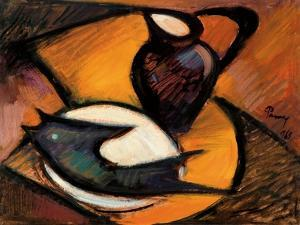 Fish and Jug, 1965 by Emil Parrag