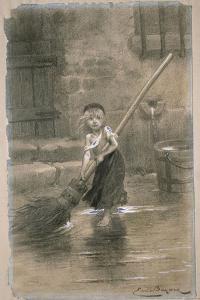 Cosette. Illustration from Les Misérables by Victor Hugo, 1862 by Émile-Antoine Bayard