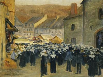 The Market at Pont-Aven; Le Marche a Pont-Aven, 1886