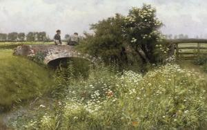 A Meeting on the Bridge by Emile Claus