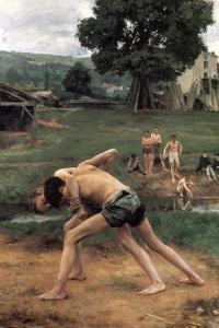 La Lutte' ('Wrestling), 1889 by Emile Friant