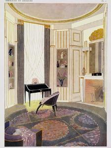 Interior with Furniture by Emile Jacques Ruhlmann