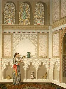 Cairo: Interior of the Domestic House of Sidi Youssef Adami, 19th Century (Chromolitho) by Emile Prisse d'Avennes