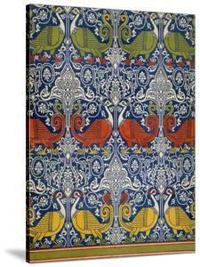 Example of Printed Egyptian Fabric, 19th Century (Chromolitho) by Emile Prisse d'Avennes