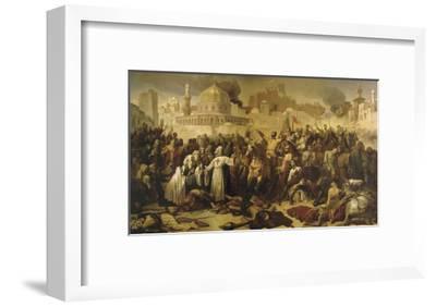 Prise de Jérusalem par les croisés, 15 juillet 1099 (Godefroy de Bouilon rendant grâce à Dieu en