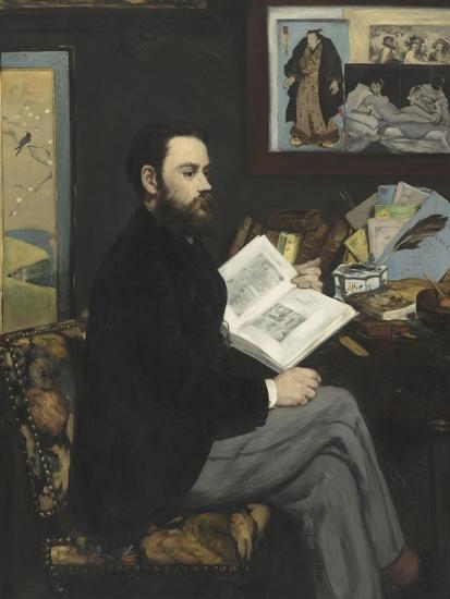 Emile Zola (1840-1902), écrivain-Edouard Manet-Giclee Print