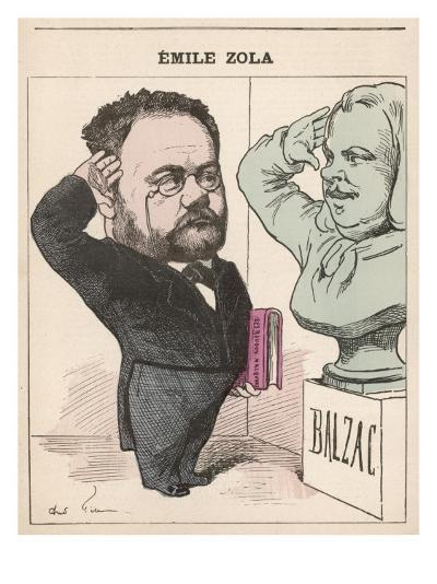 Emile Zola French Novelist Paying His Respects to Balzac--Giclee Print