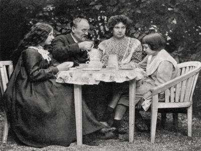 Emile Zola, French Novelist, with His Family, 1899--Giclee Print