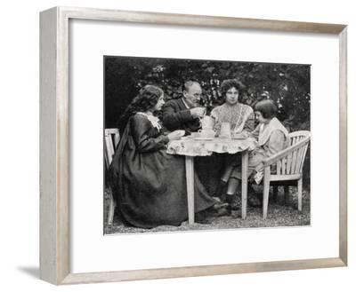 Emile Zola, French Novelist, with His Family, 1899--Framed Giclee Print