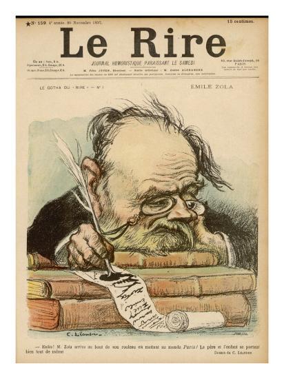 Emile Zola, French Novelist--Giclee Print