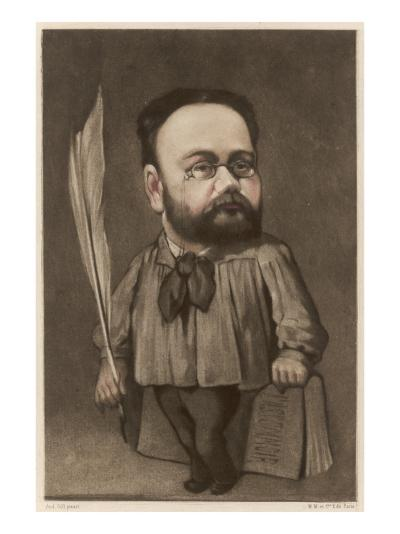 Emile Zola French Writer and Champion of Dreyfus--Giclee Print