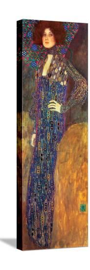 Emilie Floege-Gustav Klimt-Stretched Canvas Print