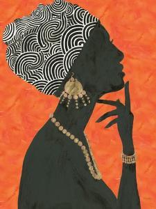 Graceful Majesty I Orange by Emily Adams