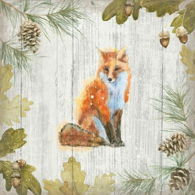Into the Woods IV on Barn Board by Emily Adams