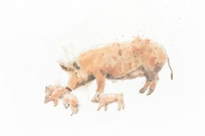Pig and Piglet by Emily Adams