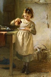Girl with a Kitten by Emily Farmer