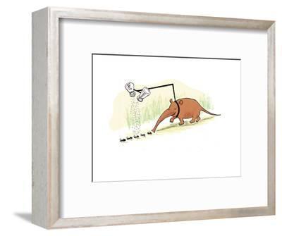 Anteater seasoning ants prior to eating them.  - Cartoon