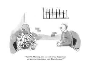 """""""Dammit, Manning, have you considered the pronoun war that this is going t?"""" - Cartoon by Emily Flake"""