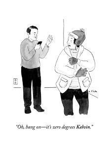 """Oh, hang on?it's zero degrees Kelvin."" - Cartoon by Emily Flake"