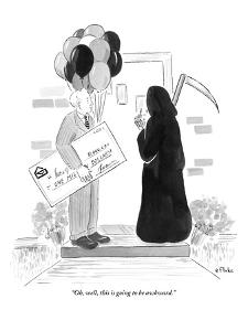 """""""Oh, well, this is going to be awkward."""" - New Yorker Cartoon by Emily Flake"""
