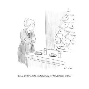 """Those are for Santa, and these are for the Amazon drone."" - Cartoon by Emily Flake"