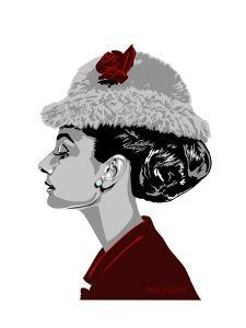 Audrey Hepburn - I Believe in Red by Emily Gray