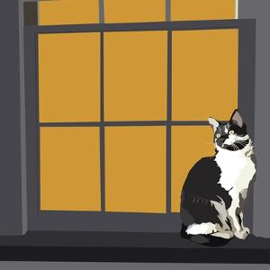 Cat on a Window Sill I by Emily Kalina