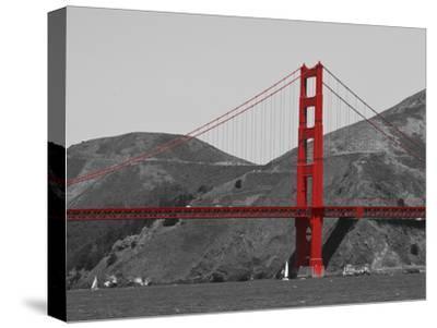 Golden Gate Bridge with Red Pop Border