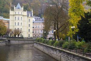 Along the Canal Street of Karlovy Vary, Czech Republic by Emily Wilson