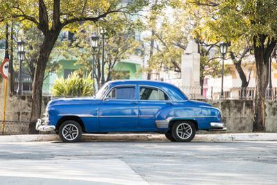 Blue 1951 Chevrolet Vintage Car on Streets of Regla, Cuba