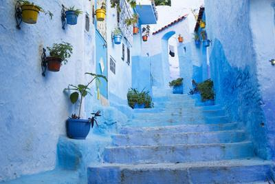 Chefchaouen, Morocco. Narrow Alleyways for Foot Traffic Only