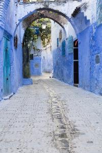 Chefchaouen, Morocco. Narrow Arched Alleyways for Foot Traffic Only by Emily Wilson