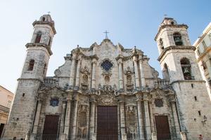 Cuba, Havana. Plaza de La Catedral, Cathedral San Cristobal by Emily Wilson