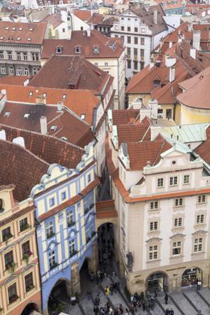 Czech Republic, Bohemia, Prague. Prague Central Square by Emily Wilson