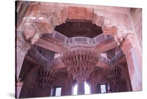 India, Utter Pradesh. Agra Fort . Richly Decorated Semi-Circular Red Sandstone Fort by Emily Wilson