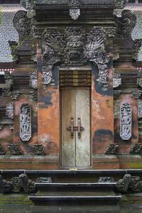 Indonesia, Bali. Hindu Temple Door at Pura Tirta Empul Temple by Emily Wilson