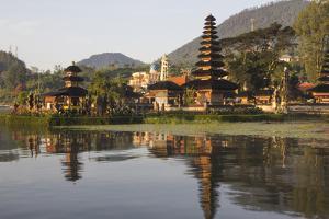 Indonesia, Bali. Water Temple Complex, Ulun Danu Temple in Lake Bratan by Emily Wilson