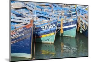 Morocco, Essaouira, Small Boats Tied in Harbor by Emily Wilson